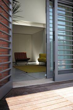 Loft Ex Magazzini Generali, Venice, 2015 - zanon architetti associati Window Grill Design Modern, House Window Design, Grill Door Design, Door Gate Design, House Design, Balcony Grill, Balcony Window, Mediterranean Doors, Door Grill