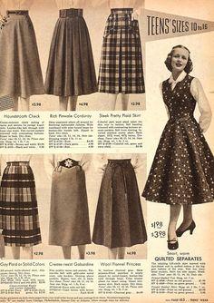 How We Wear Vintage for the Holidays // - The Boyer Sisters Vintage Outfits, 1950s Outfits, Vintage 1950s Dresses, Vintage Skirt, 1950s Fashion Women, Retro Fashion, Vintage Fashion, 1950s Style, Moda Vintage