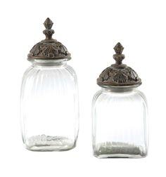 2 pots en verre H38 | Maisons du Monde