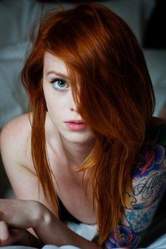 pinterest.com/fra411 #redhair #beauty - Lass my fav Suicide Girl