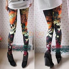 New Hot Fashion Womens Colorful Pattern Print Leggings,  Bought on eBay FOR ONLY $2.52 + FREE S&H!