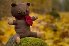 Honey bear Chocolate brown scented teddy cute toy by AbbuToys