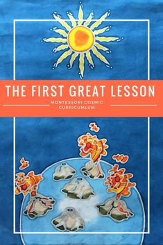 The First Great Lesson is the first experience into the Montessori Cosmic Curriculum. This awe-inspiring lesson leads into many different cultural subjects. Montessori Science, Montessori Homeschool, Montessori Elementary, Montessori Classroom, Montessori Toddler, Homeschooling, Montessori Kindergarten, Maria Montessori, Peace Education