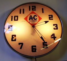 Allis Chalmers Dealer Light Up Clock Lackner Vintage Dealer Clock | eBay