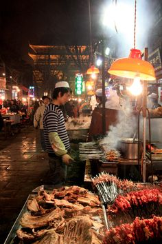 Xian is home to some of the best foods and atmosphere in all of China. Taste the delicious skewers and fresh lychee for yourself at Xian's Muslim Quarter.   Plan your authentic foodie and sightseeing  adventure at www.chinadiscoveryrtours.com.