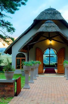 Old-world charm, embedded in the foundations of the hotel, complements the rural ambiance and modern comforts of Granny Mouse Country House & Spa at the foothills of the Drakensberg. Kwazulu Natal, Old World Charm, Hotel Spa, Gazebo, Outdoor Structures, Country, Modern, House, Kiosk