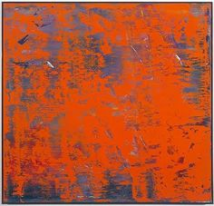 Orange painting by Gerhard Richter