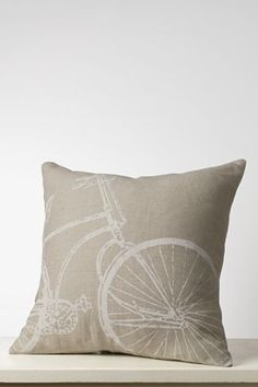 "18"" x 18"" Bicycle Decorative Pillow Cover"