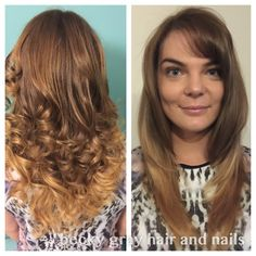 Ombrè Balayage Becky gray hair and nails