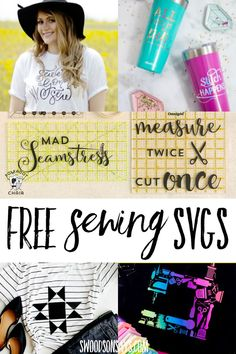 If you love sewing, show it off on your shirt! I thought I'd make a list of my favorite sewing svg files to share; these are such fun crafts to make for yourself or as Sewing Art, Love Sewing, Sewing Crafts, Sewing Projects, Diy Projects, Free Svg Cut Files, Svg Files For Cricut, Silhouette Cameo Tutorials, Silhouette Projects