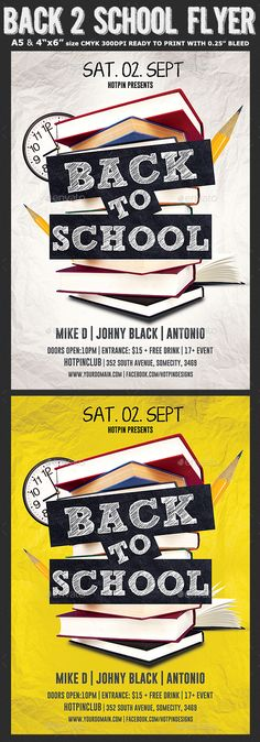 Back To School Flyer Template   Flyer Printing Print Templates