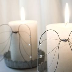 Angel wing candle decoration