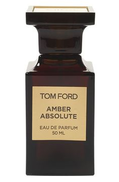 Tom Ford Private Blend Absolute Eau de Parfum A hallmark Private Blend fragrance. Amber Absolute is a honey-colored scent infused with the purest form of amber, joined by a tenacious refrain of African incense, labdanum, rich woods and a touch of vanilla bean.