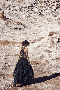 WANDERLUST: FASHION'S SULTRY SIDE TAKES A ROAD TRIP Boudoir-inspired looks know no boundaries in Chile's Atacama Desert.
