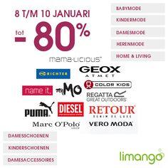 Nu bij Limango: Leegverkoop Limango korting tot 80% Limango start het nieuwe jaar met een extreme leegverkoop korting op babymode, kindermode, damesmode, herenmode, speelgoed, sieraden en ho... #Limango #sale #mode