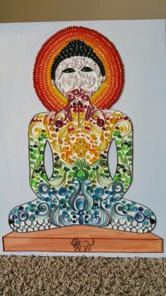 Paper quilling canvas art. LORD MAHAVEER.