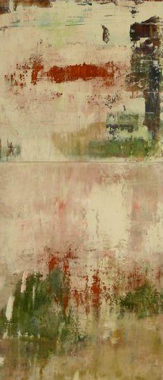 "Allison B. Cooke In Mezzo 28"" x 12"" oil/mixed media on panel"