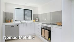 Reflections Kitchen Splashback in Nomad Metallic.