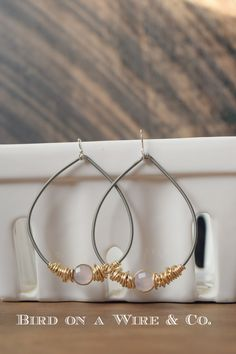 Hoop Guitar String Earrings- Guitar String Jewelry- Made in Nashville Music City Tennessee- Bird on a Wire Jewelry