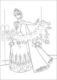 Tegninger til Farvelægning Frozen 8