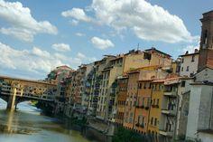 Fiume Arno e Ponte Vecchio, Firenze, Toscana, Italia