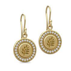 Signet guld øreringe - Julie Sandlau Webshop  wedding, earrings, gold, pretty Wedding Earrings, Pocket Watch, Bling, Jewellery, Watches, Personalized Items, Pretty, Gold, Accessories