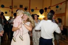 dancing with her daughter, manuden village hall alternative wedding photography