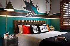 hockey room - stripe design