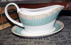 Vintage c.1995 Wedgwood Aztec pattern gravy boat by BuyfromGroovy