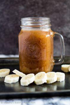 Banana Caramel Sauce | marshasbakingaddiction.com @marshasbakeblog