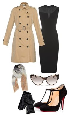 """""""Throwback Thursday: Audrey Hepburn Look 5"""" by bries24 on Polyvore featuring Victoria Beckham, Burberry, Christian Louboutin, Prada, Nordstrom, Tommy Hilfiger, women's clothing, women's fashion, women and female"""