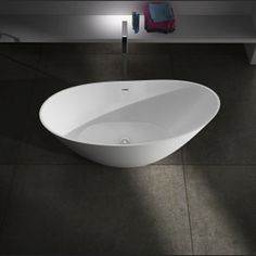 Freestanding bathtub / oval / Solid Surface BS-S88 Bella Stone Company Limited