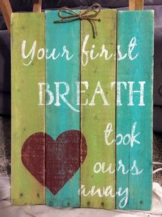 "This hand-painted, wood sign comes with a message for your kid's room and general home decor. This wall sign measures approximately 11"" x 14"".  All of my creations are made of reclaimed pallet boards. They are hand-painted with happiness and love. All creations are made after they are ordered."