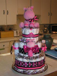 baby shower gift diaper cake