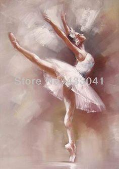 hecho a mano impresionismo en angel blanco bailarina de ballet moderno pintura al óleo de la pared de arte abstracto de imágenes a la pared de la decoración del hogar