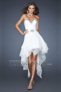 A-Line Sheath/Column Strapless Sweetheart Elastic Woven Satin Prom Dress - IZIDRESSES.COM