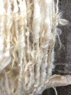 HANDSPUN Natural Icelandic Wool Lock Spun BULKY YARN by waycoolstuff09 on Etsy