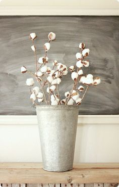 How to Make Cotton Stems with Branches and Cotton Balls