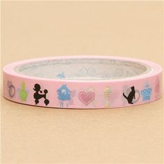 cute Sticky Tape with poodle cat butterfly 2