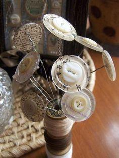 Vintage Button Bouquet… Tutorials | Official Blog of Lisa M. Pace