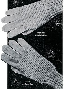 Classic Glvoes knit pattern published in Gloves and Mittens, Bernhard Ulmann #29.
