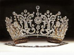 PRINCESS MARGARET'S WEDDING TIARA  How magnificent and regal!! I think it's incredible that this tiara can be converted into a necklace - what a stunning piece of jewellery it must make on the neckline!! ~ (The Poltimore Tiara, a gift from H.R.H. Queen Mary. In 2006 this Poltimore Tiara was sold for over $1.5 million dollars.)