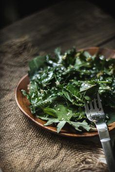 Adventures in Cooking: Sesame Ginger Kale & Quinoa Leaf Salad