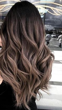 Reminiscent of the striped copper stone, tiger eye hair is the update to balayage we've been waiting for. The hair trend pulls warm tones from dark hair in the natural style we've come to expect from painted-on highlights. Highlights For Dark Brown Hair, Brown Hair Shades, Brown Hair Balayage, Brown Ombre Hair, Balayage Brunette, Ombre Hair Color, Hair Color Balayage, Ashy Brown Hair, Caramel Hair Highlights