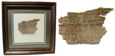 Ancient Resource: Ancient Papyrus Scroll Fragments for Sale