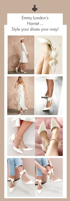 Harriet is the must-have wedding shoe for brides who want to change their look throughout their wedding day. Super versatile, Harriet comes with two different straps so that you can create the perfect style to suit your personality. A satin sash which can be tied at the back/side for a playful style or a delicate suede strap which creates a clean and modern look. Click through to explore our blog and read more. Ribbon Shoes, Satin Sash, Bride Shoes, Tie The Knots, Suits You, Your Shoes, Must Haves, Brides, Personality