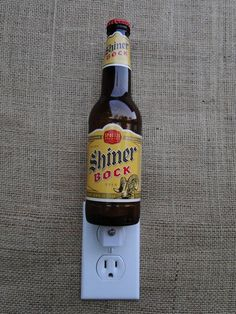 Shiner Bock Beer Bottle using a quality UL listed Night