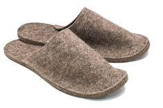 moldes de pantuflas de fieltro sin costura