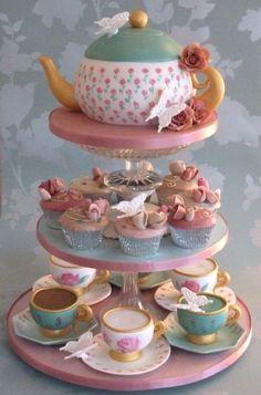 106201-Teapot-Cake-Teacup-Cupcakes.jpg (460×696)