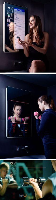 Espelho Touch Screen http://www.hypeness.com.br/2012/04/espelho-touch-screen-permite-ver-conteudos-interativos-enquanto-escovamos-os-dentes/